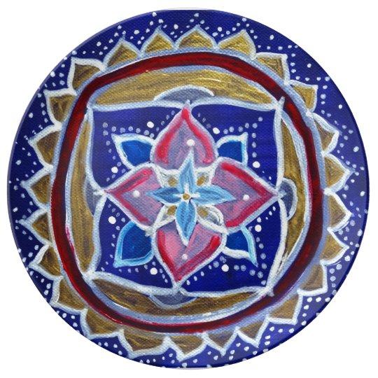 Gold Mandala 27.3 cm Decorative Porcelain Plate