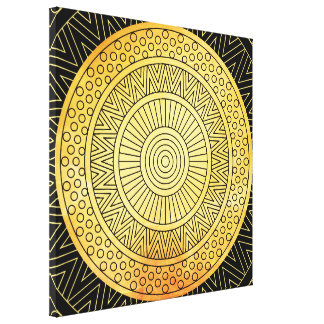 GOLD MANDALA CANVAS PRINT