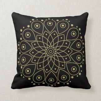 Gold mandala cushion
