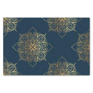Gold Mandala Damask Pattern Tissue Paper