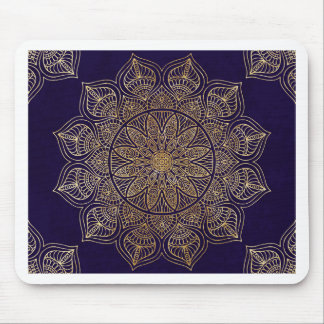 Gold mandala mouse mat