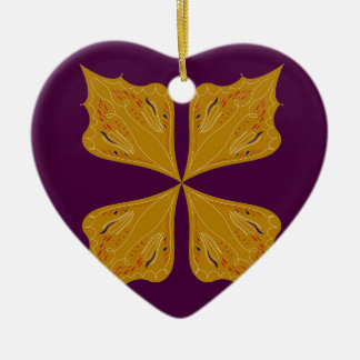 Gold mandala on Wine Christmas Ornament