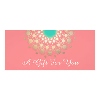 Gold Mandala Pink Salon and Spa Gift Certificate