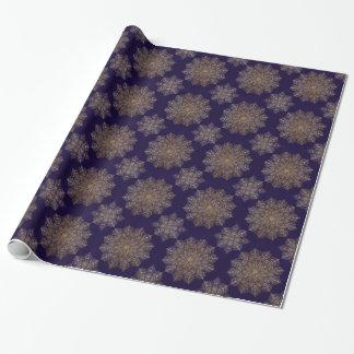 Gold mandala wrapping paper