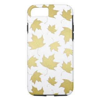 GOLD MAPLE LEAF PATTERN - Phone case