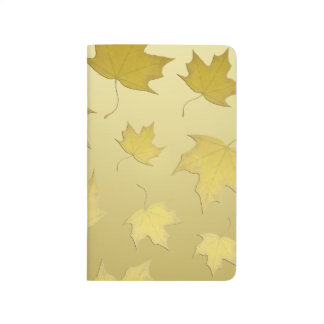 GOLD MAPLE LEAVES - Pocket journal