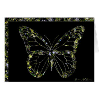 Gold Marble Butterfly Card (blank)