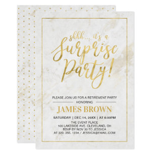 surprise retirement party invitations announcements zazzle uk