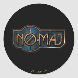 Gold & Marble No-Maj Badge Classic Round Sticker