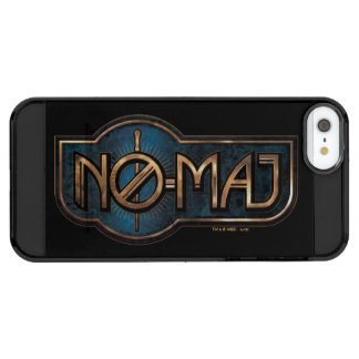 Gold & Marble No-Maj Badge Clear iPhone SE/5/5s Case