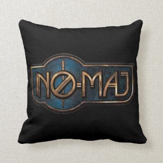 Gold & Marble No-Maj Badge Cushion