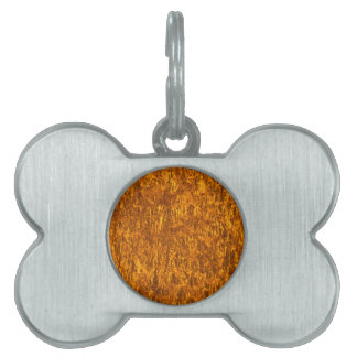 Gold marble pet tags