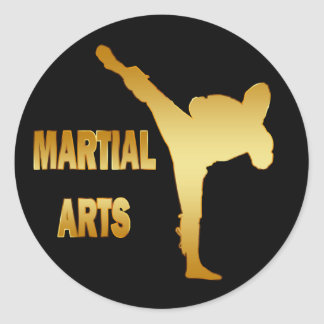 GOLD MARTIAL ARTS ROUND STICKER