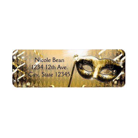 Gold Masquerade Mask Elegant Ball Birthday Party