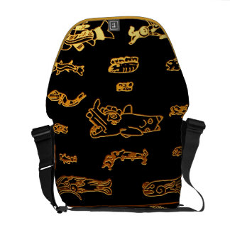 Gold Mayan Glyphs Courier Bags