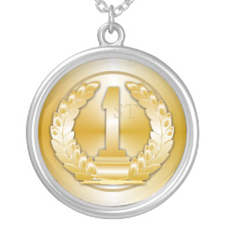 Gold Medal Round Pendant Necklace