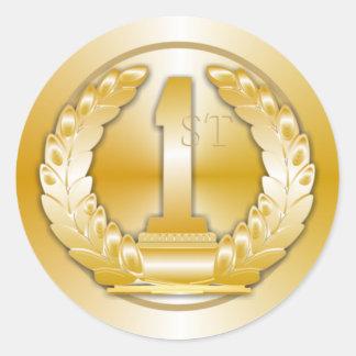 Gold Medal Round Sticker