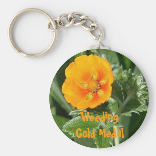 Gold Medal Weeding Basic Round Button Key Ring