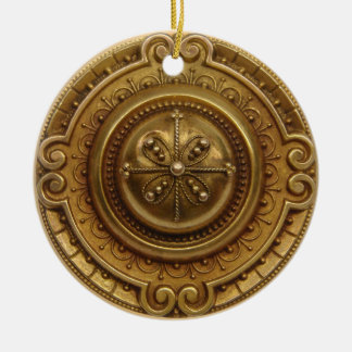 Gold Medallion 1 Christmas Ornament
