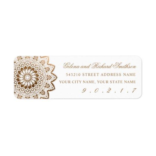 Gold Medallion Elegant Address Label Stickers