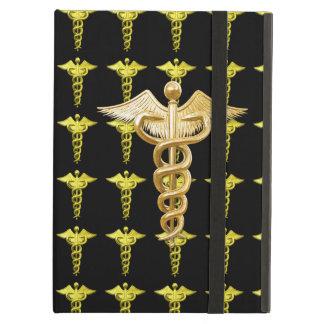 Gold Medical Caduceus iPad Covers