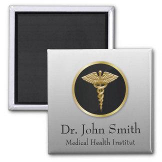 Gold Medical Caduceus - Magnet