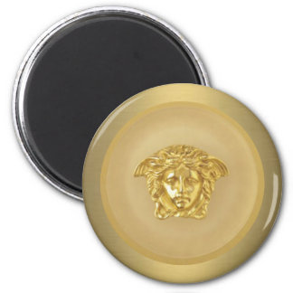 Gold Medusa Medallion 6 Cm Round Magnet