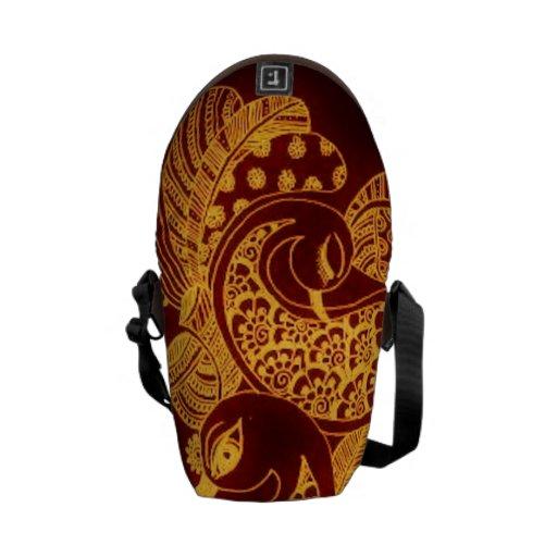 Gold Mehndi Rickshaw Messenger Bag