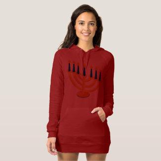 Gold Menorah Cranbury Red Shirt