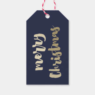 Gold Merry Christmas gift tag | Pack of 10
