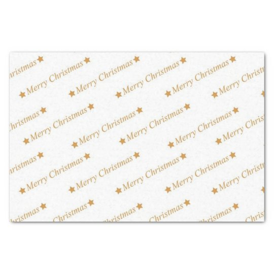 Gold Merry Christmas Printed Tissue Paper