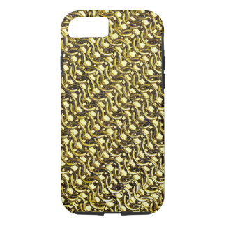 Gold Metal Chain Mail Metallic Medieval Armor iPhone 8/7 Case