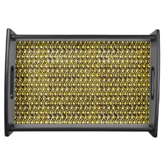 Gold Metal Chain Mail Metallic Medieval Armor Serving Tray