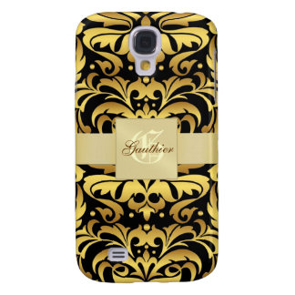 Gold Metal Damask 3g  Galaxy S4 Case