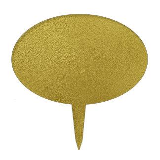 Gold Metal Pattern Cake Picks