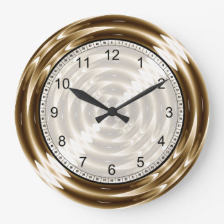 Gold Metal Spiral Large Clock
