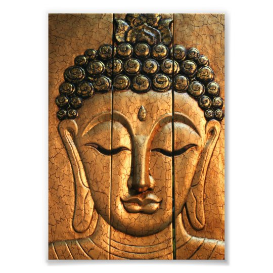 Gold Metallic Buddha Photo Print