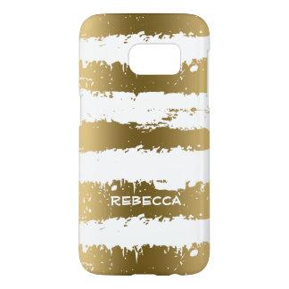 Gold Metallic Grunge Stripes