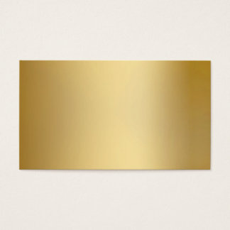 Gold Metallic Look Business Cards