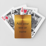 Gold Metallic Look Custom Cards Add Your Name Poker Deck