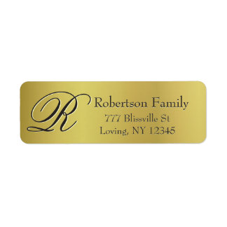 Gold Metallic Look Return Address Label