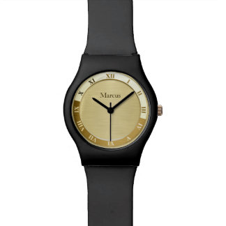 Gold Metallic Name Template Watch
