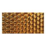 Gold Metallic Pattern Photo Greeting Card