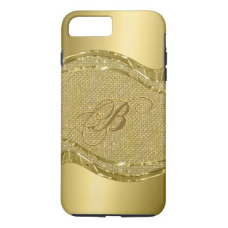 Gold Metallic Print With Diamonds Pattern iPhone 7 Plus Case