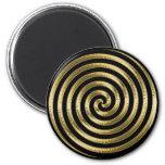 Gold Metallic Swirl Magnet