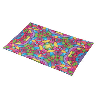 Gold Mine Colorful Cloth Placemats