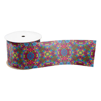 Gold Miner Kaleidoscope  Ribbons, 1.5 or 3 inch Satin Ribbon