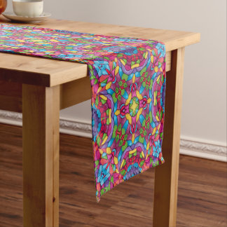 Gold Miner Kaleidoscope   Table Runner