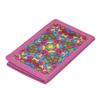 Gold Miner Vintage Kaleidoscope  Colorful Wallets