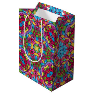 Gold Miner Vintage Kaleidoscope  Medium Gift Bag